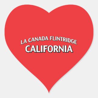 La Canada Flintridge California Heart Stickers