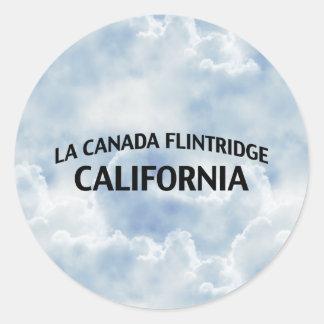 La Canada Flintridge California Round Stickers