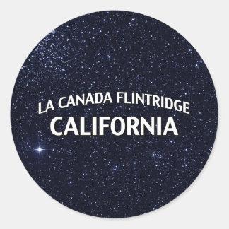 La Canada Flintridge California Round Sticker