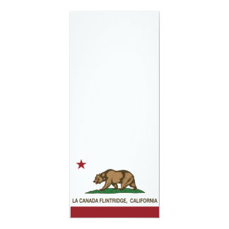 """la Canada Flintridge de la bandera de California Invitación 4"""" X 9.25"""""""