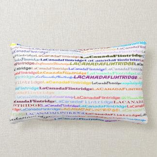 La Canada Flintridge Text Design II Lumbar Pillow