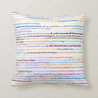 La Canada Flintridge Text Design II Throw Pillow