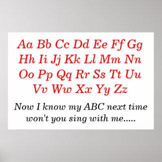 La canción de alfabeto posters