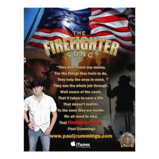 """La canción del bombero - aviadores del HQ Folleto 8.5"""" X 11"""""""
