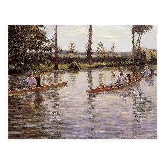 La canoa de Gustave Caillebotte Postales