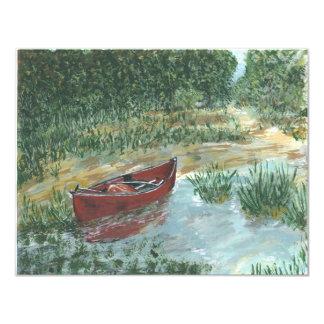 """La canoa roja invitación 4.25"""" x 5.5"""""""