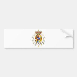 La capa arma el reino del funcionario Italia de do Pegatina De Parachoque