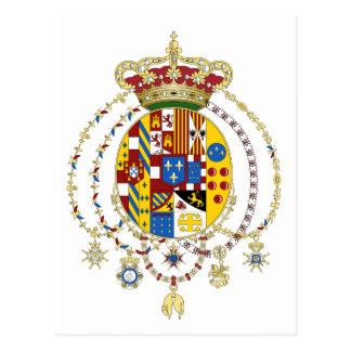 La capa arma el reino del funcionario Italia de do Postal