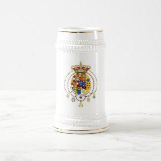 La capa arma el reino del funcionario Italia de do Tazas De Café