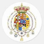 La capa arma el reino del funcionario Italia de Etiquetas Redondas