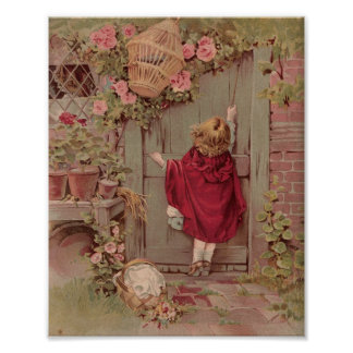 La capa con capucha roja golpea en la puerta poster