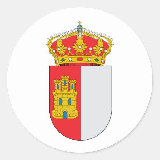 La capa oficial de Mancha España del Castile-La ar Pegatina