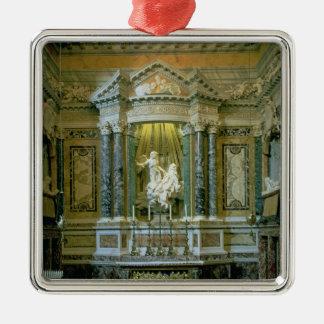 La capilla de Cornaro Adorno Navideño Cuadrado De Metal