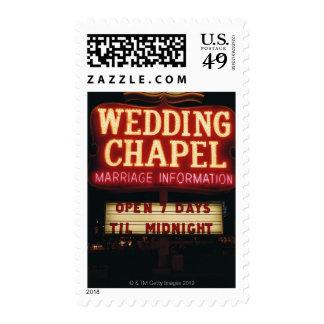 La capilla de neón del boda firma adentro Las Sello