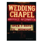La capilla de neón del boda firma adentro Las Tarjetas Postales