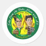 La capilla de Romney toma de la deuda Pegatina Redonda
