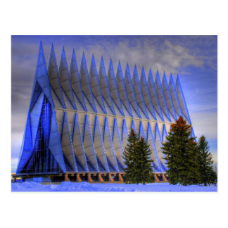 La capilla del cadete - academia de fuerza aérea postales