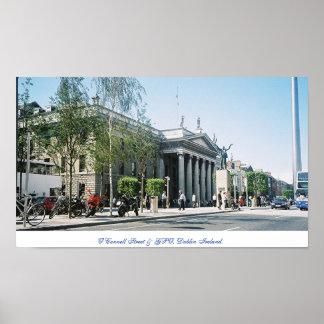 La capital Dublín, calle de Irlanda de O'Connell Póster