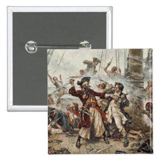 La captura de Blackbeard Pin Cuadrado