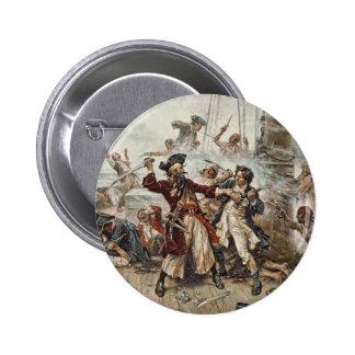 La captura de Blackbeard Pin Redondo De 2 Pulgadas