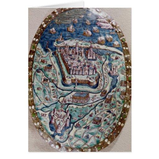 La captura de Calais del francés en 1558 Tarjeta De Felicitación