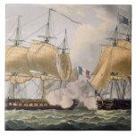 La captura del La Clorinde, el 26 de febrero de 18 Azulejo Cuadrado Grande