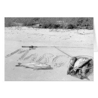 La captura del pescador, Marco Island, la Florida, Tarjeta De Felicitación