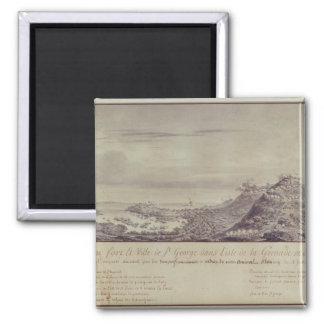 La captura francesa Grenada, 1779 Imán Cuadrado