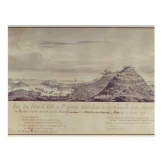 La captura francesa Grenada, 1779 Tarjeta Postal