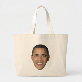 La cara de Barack Bolsa Tela Grande