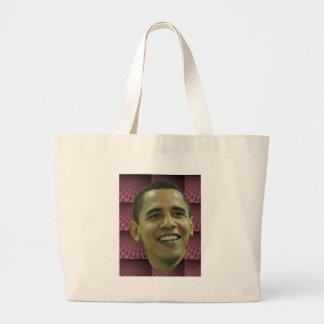 La cara de Barack Obama Bolsa Tela Grande