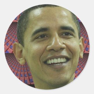 La cara de Barack Obama Pegatina Redonda