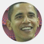 La cara de Barack Obama Pegatinas Redondas