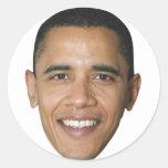 La cara de Barack Pegatinas Redondas