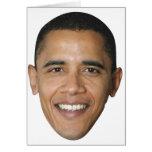 La cara de Barack Tarjeta