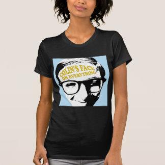 La cara de Colin en todo diseño retro del logotipo Camisetas