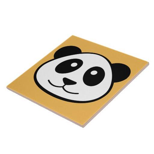 La cara de la panda azulejos ceramicos