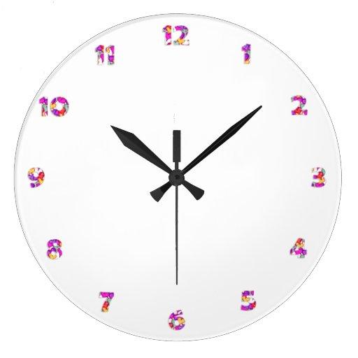 La cara de reloj numera - los corazones para su di