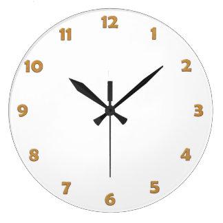 La cara de reloj numera - revista con cobre para s