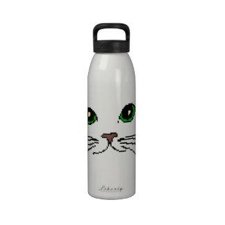 La cara del gato botellas de beber