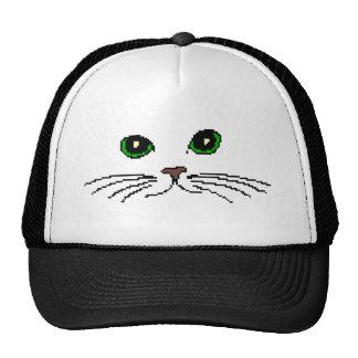 La cara del gato gorros bordados