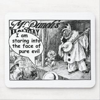 La cara del mal puro (payaso del banjo) tapetes de raton