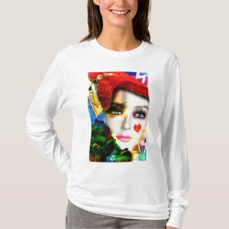 La cara del rock-and-roll para las camisetas