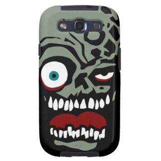 La cara del zombi de la condenación samsung galaxy s3 carcasas