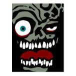 La cara del zombi de la condenación postal