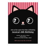 La cara linda del gatito del gato negro embroma la comunicados