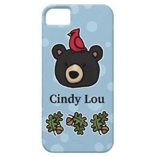 La cara linda y amistosa del oso añade su nombre iPhone 5 Case-Mate carcasa
