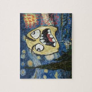 La cara Meme de la rabia hace frente a la pintura  Puzzles Con Fotos