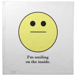 La cara sonriente para los que no están sonriendo servilleta de papel