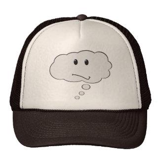 La cara sonriente piensa el gorra de la burbuja